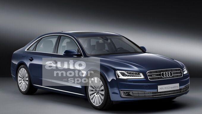 07/2015, Audi A8 ohne Singleframe-Grill