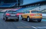 Audi Q3 2.0 TDI Quattro, Mercedes GLA 220 CDI 4Matic, Heckansicht