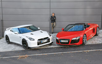 Audi R8 und Nissan GT-R