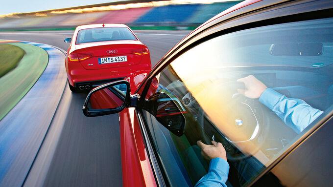 Audi S4 3.0 TFSI, BMW 335i Sport Line, Kurvenfahrt