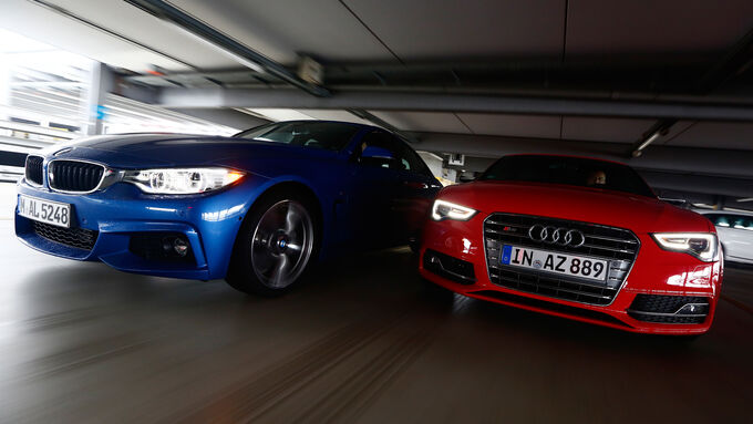 Audi S5 Sportback Bmw 435i Gran Coup 233 Frontansicht