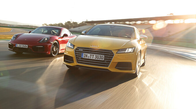 Audi TTS, Porsche Cayman GTS