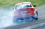 BMW 1er M Coupe, Rückansicht, Driften, Rauch