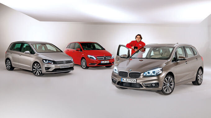 bmw 2 series active tourer comparison with b class and. Black Bedroom Furniture Sets. Home Design Ideas