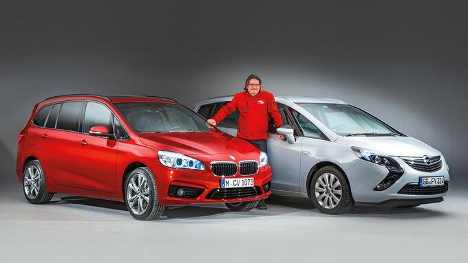 BMW 2 Series Gran Tourer, Opel Zafira Tourer, Front view