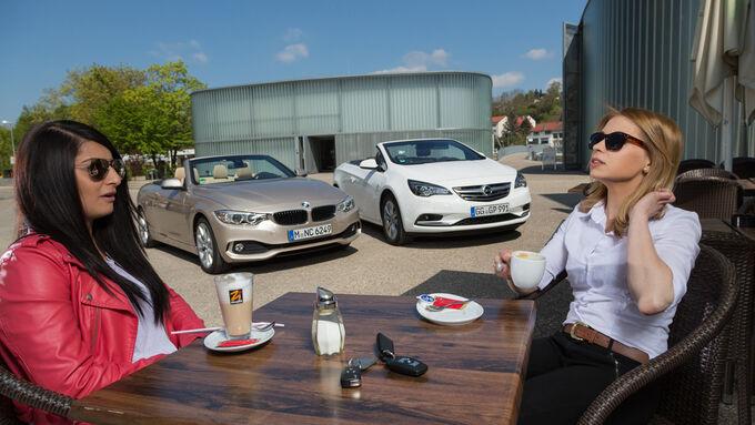 BMW 420i Cabriolet, Opel Cascada 1.6 Ecotec Turbo, Frontansicht