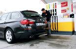 BMW 528i Touring, Tanken