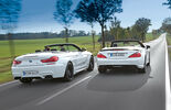 BMW M 6 Convertible, Mercedes SL 63 AMG, Rear view