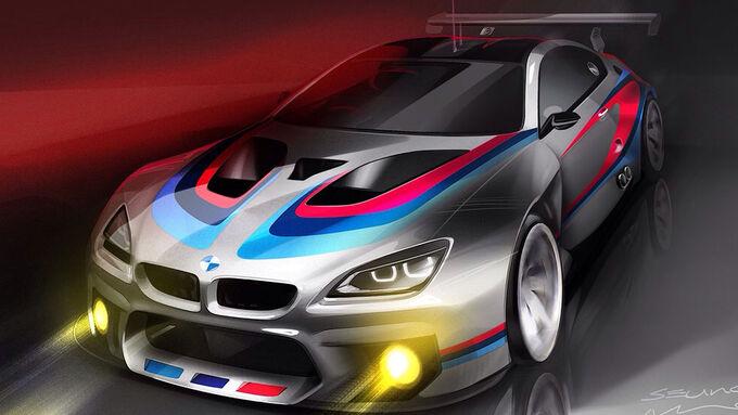 BMW M6 GT3 Rennwagen