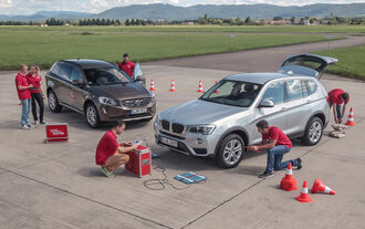 BMW X3 20d xDRIVE, Volvo XC60 D4 AWD, Testaufbau