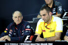 Cyril Abiteboul Franz Tost - GP Malaysia 2015