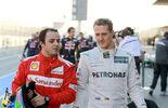 Felipe Massa Michael Schumacher 2012