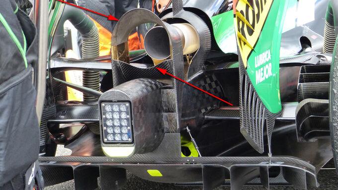 Force India - Formel 1 - Technik - GP Belgien 2014