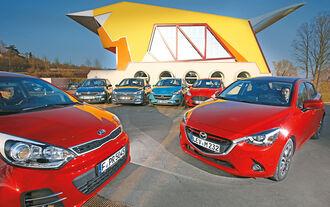 Ford Fiesta, Hyundai i20, Kia Rio, Mazda 2, Opel Corsa, Skoda Fabia