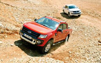 Ford Ranger 3.2 TDCi Wildtrak, VW Amarok 2.0 BiTDI Highline, Gelände