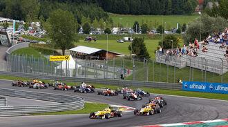 Formel 3 - Österreich 2014 - Spielberg - Red Bull Ring - Rennen 3 - Start