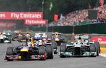 Hamilton  Vettel - GP Belgien 2013