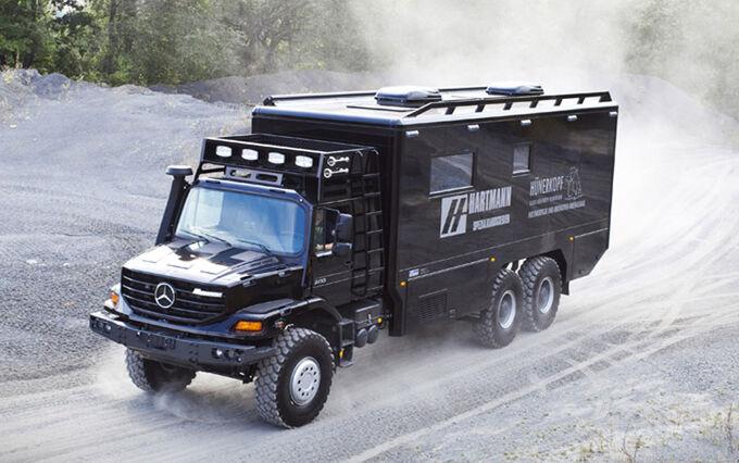 Mercedes zetros wohnmobil 4x4 for Mercedes benz zetros 6x6