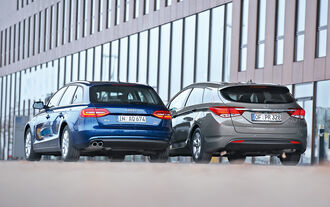 Hyundai i40 Kombi Blue 1.7 CRDi Style, Audi A4 Avant 2.0 TDI Ultra Attraction