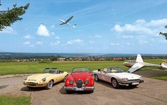 Jaguar XK 150, E-Type und XJ-S, Frontansicht
