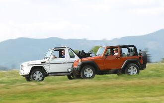 Jeep Wrangler, Mercedes G-Klasse