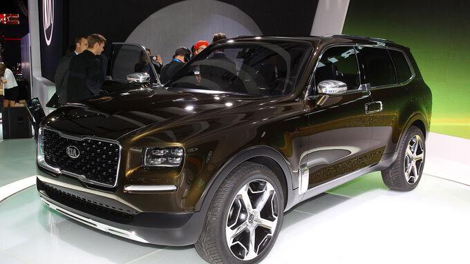 Kia Telluride Suv Concept Auf Der Detroit Motor Show 2016