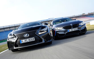 Lexus RC F, BMW M4 Performance, Front view