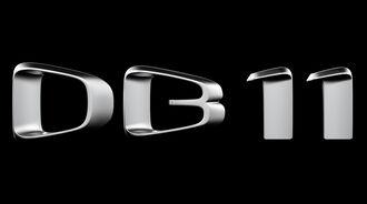 Logo Schriftzug Aston Martin DB11