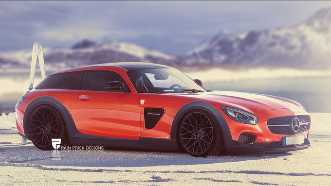 Mercedes AMG GT - Photoshop - Shooting Brake - Rain Prisk 2015