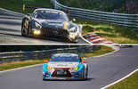 Mercedes AMG GT3 - Lexus RC F GT3 - VLN