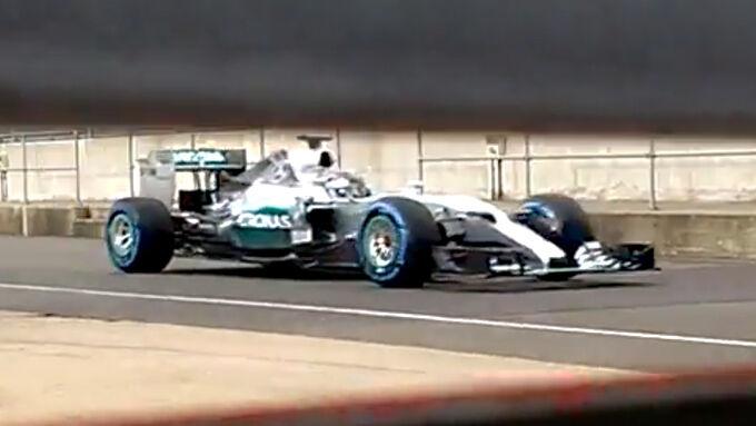 Mercedes AMG W06: Handy-Video vom Shakedown