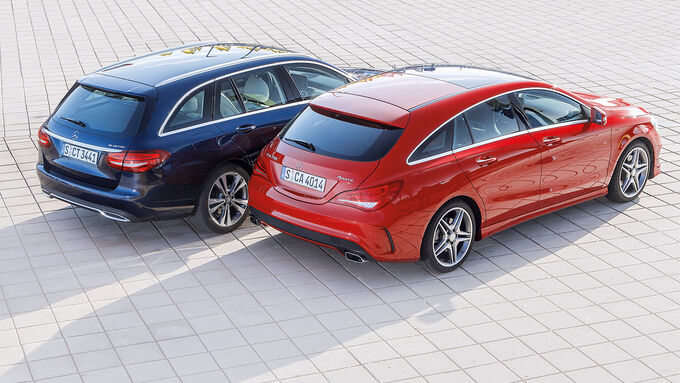 Mercedes CLA Shooting Brake, Mercedes C-Class T-Model, Plan view