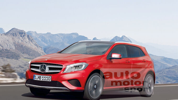Mercedes GLA, Retusche