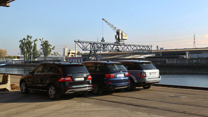 Mercedes ML, BMW X5, Range Rover Sport
