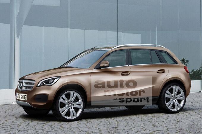 Neuer Mercedes GLK (2012) auf der New York Auto Show: Kompakt-SUV rund
