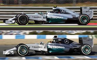 Mercedes Vergleich 2014