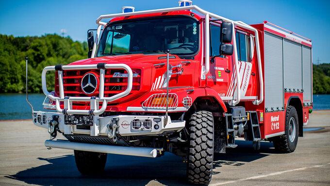 Mercedes Zetros Fire-fighting Vehicle Paul Nutzfahrzeuge S-TLF Fire Service Filderstadt