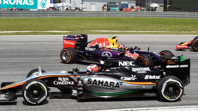 Force India abgeschlagen