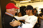 Niki Lauda  Lewis Hamilton - GP Abu Dhabi 2014