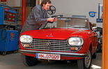 Peugeot 204 Cabriolet, Front, Windschutzscheibe
