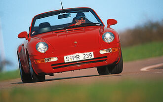 Porsche 911 Cabrio 993, Frontansicht