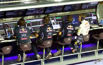 Red Bull-Kommandostand - GP Singapur 2014