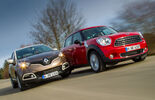 Renault Captur dCi 90, Mini One D Countryman, Frontansicht