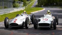 Rosberg Hamilton - Silberpfeil - Nordschleife 2013