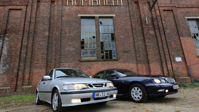 Rover 75 2.5 V6, Saab 9-3 2.0 Turbo, Front view