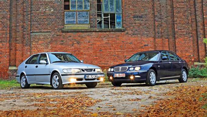Rover 75 2.5 V6, Saab 9-3 2.0 Turbo, Side view