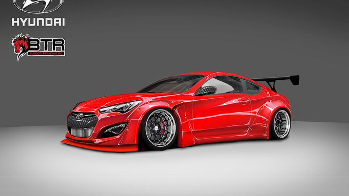 SEMA-Show 2014, Tuning, Messe, Blood Type Racing, Hyundai Genesis Coupé