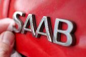 Saab Logo Schriftzug