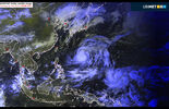 Satellitenbild - Taifun Phanfone - GP Japan 2014 - Ubimet