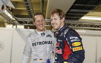 Vettel schlägt Schumi nach Punkten